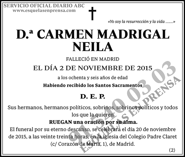Carmen Madrigal Neila